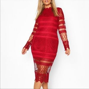 Gorgeous Red Boohoo lace dress